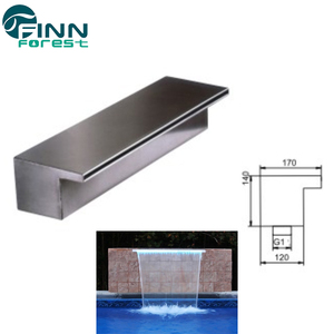 80cm indoor swimming pool wall waterfall fountains sheer descent waterfall