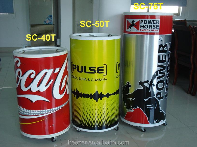 50l Soft Drink Promotional Barrel Shape Round Beverage