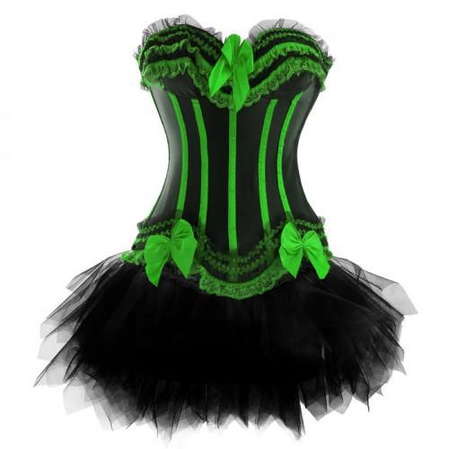 Buy Ladies Sexy Burlesque Dress Plus Size Boned Underwire Corset Top
