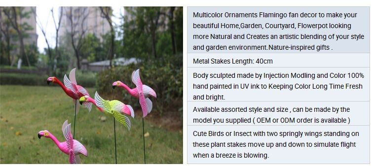 Osgoodway8 KM_16170008 Hot Selling Garden Art Simulation Plastic Ornament Duck Stake With Moving wings for Patio Balcony