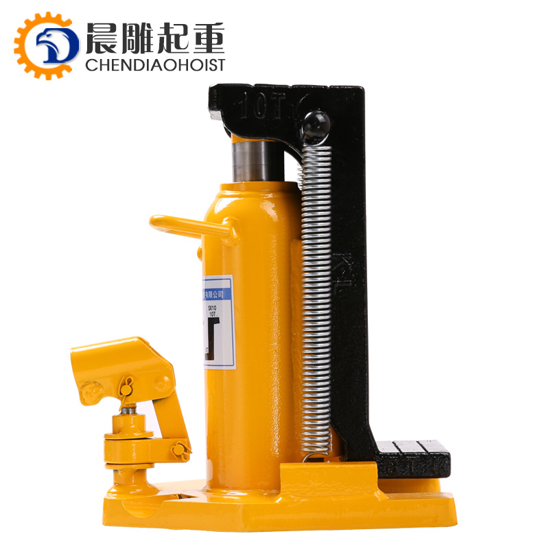 20 Ton Hydraulic Toe Jack Machine Lift Cylinder  Welded Steel Equipment
