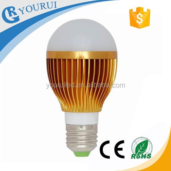 AC85-265V A19 5W 120v 60hz outdoor led light bulb e27 9w