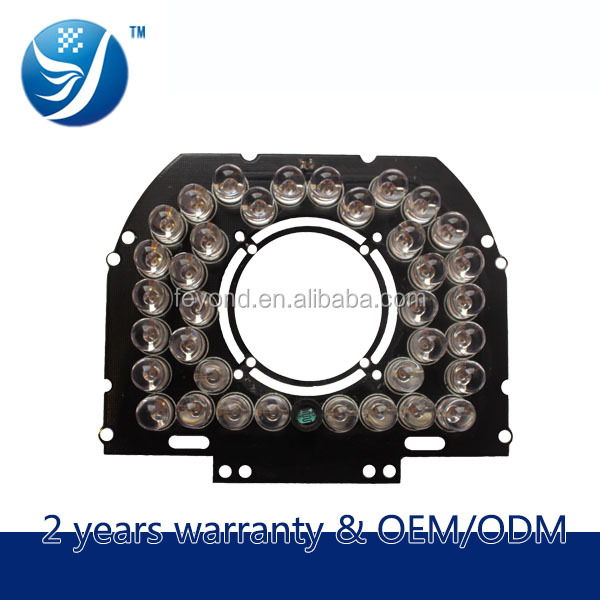Shenzhen suntor 90 degree 36 LED night Vision IR Infrared Illuminator Light board For security Camera