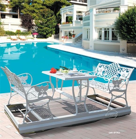 Aluminum 2-seat Garden Waterproof Swing Chair With Canopy Outdoor ...