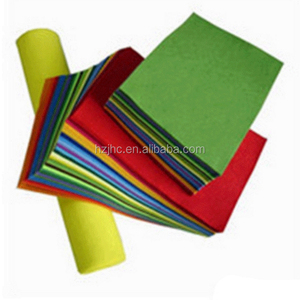 Colorful polyester needle punched non woven felt slippers material