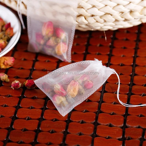 E1005 6.5*8cm drawstring empty nylon pyramid tea bag