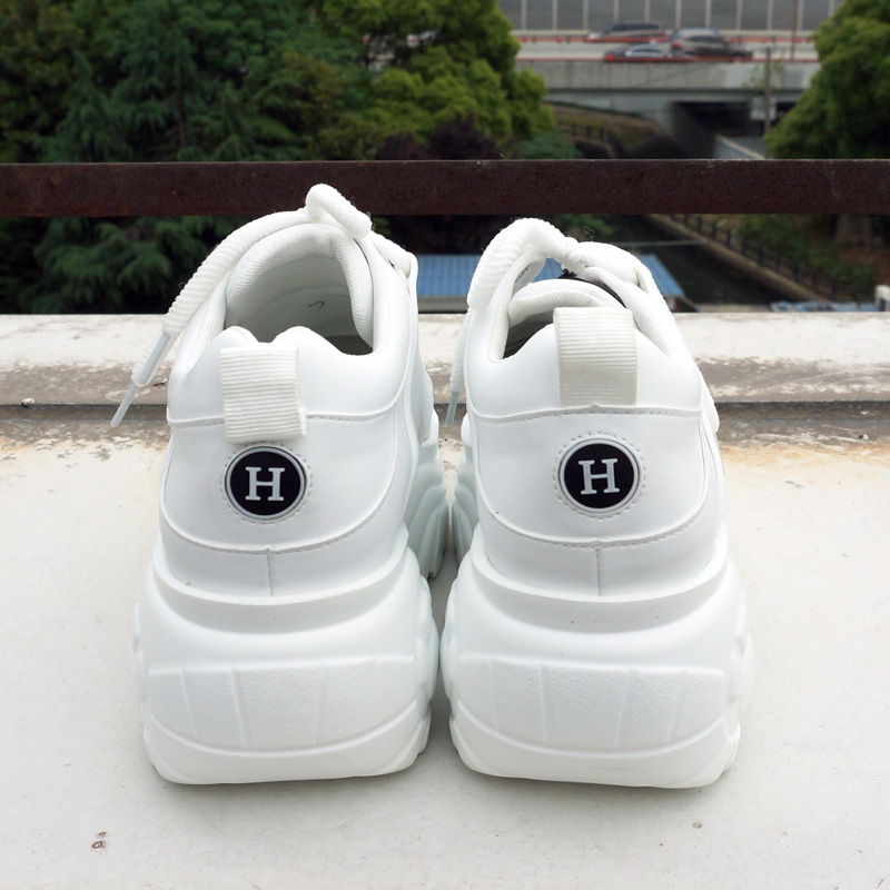 Zapatillas De Plataforma Alta Para Mujer,Zapatillas Gruesas Blancas Para Mujer 2020,Zapatos De Moda De Marca Para Mujer,Zapatos De Papá,Calzado Casual