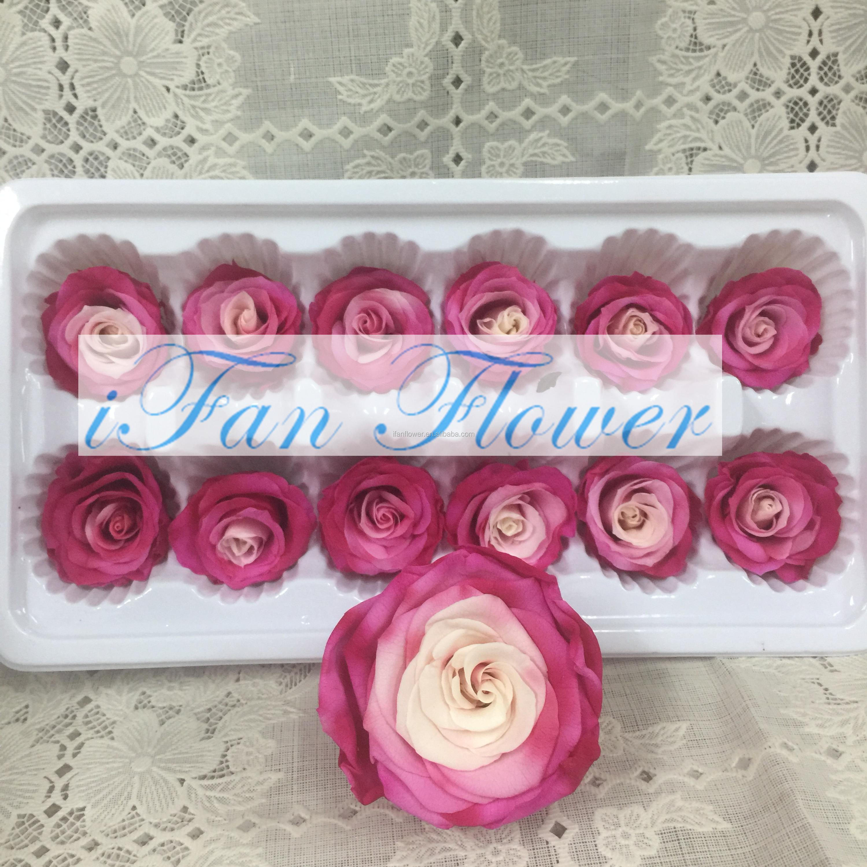 2017 New Arrival forever rose in glass with cheapest price preserved rose head