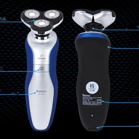 3 ב1 גברים רחיץ 3D רוטרי נטענת אלחוטי חשמלי זקן מכונת גילוח מכונת גילוח השיער אכפת לי שפם גוזם שיער האף קליפר