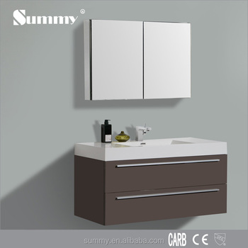 Wall Hung Modern Shaker Style 24 Inch Lux Bathroom Vanity