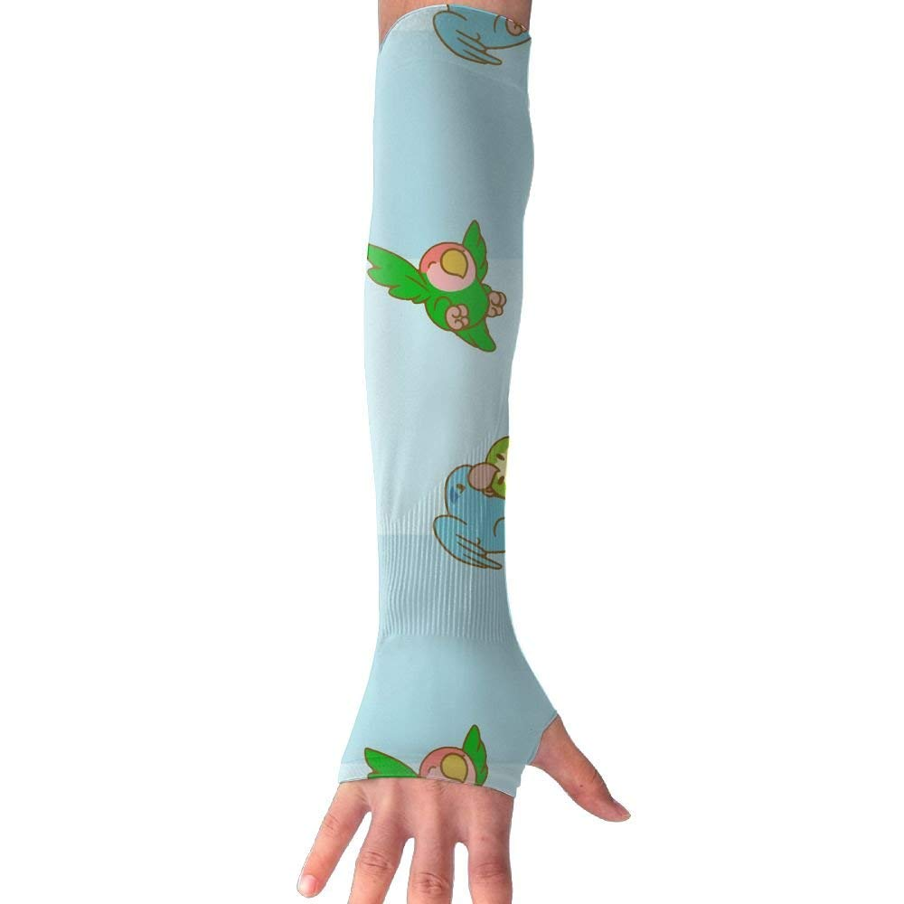 e268987547 Get Quotations · Cute Cartoon Parrots Love UV Protection Cooling Arm Sleeves  For Men & Women.Perfect For