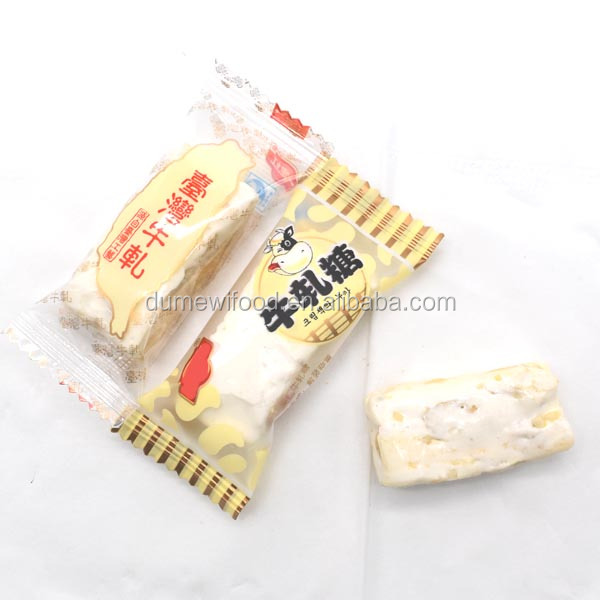 TAIWAN Soft Peanut Milk Chewy Candy Turkish Milk Nougat Candy
