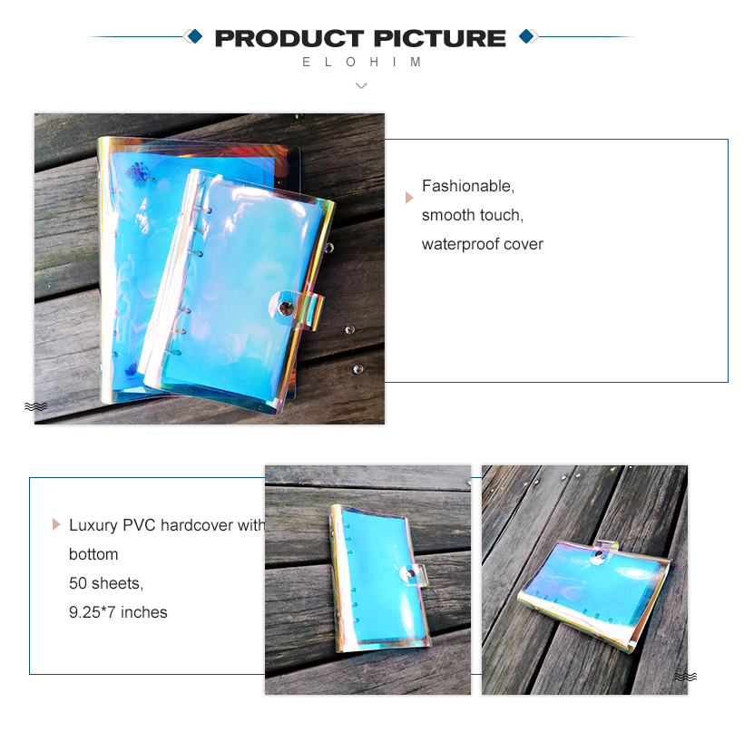 Laser PVC cover loose leaf notebook a5 a4 loose leaf folder
