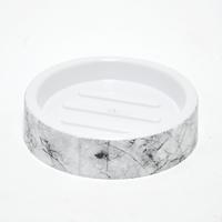 Cylinder Shape Marble Design Soap Dish