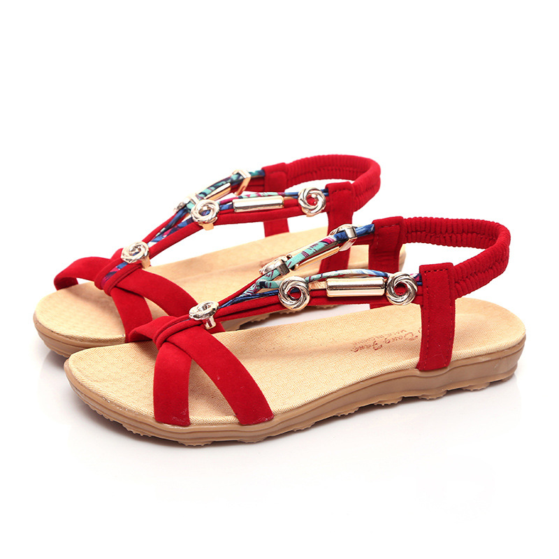 e9677bfe1b15  font  b Women  b   font  Sandals ladies sandals slippers  font  b womens  b   font    font  b footwear  b   font  Ankle-Strap china native shoes red white ...
