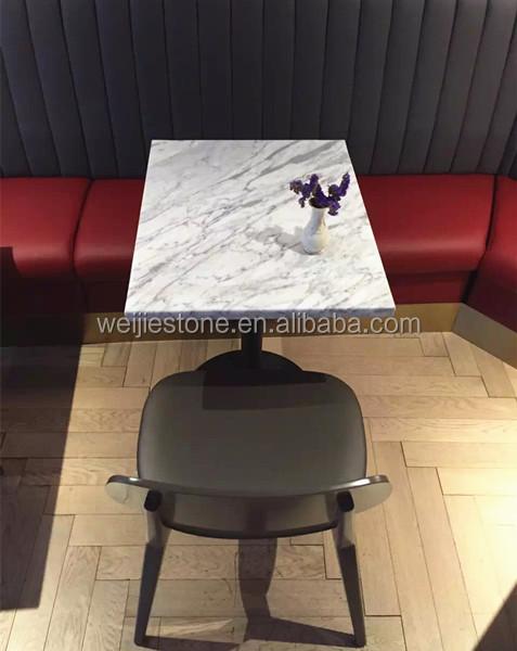 White Carrara Marble Restaurant Table Top