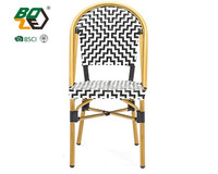 outdoor furniture aluminum courtyard stackable wicker metal chair