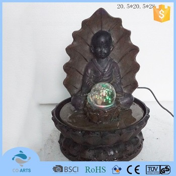 Fountain For Home Decoration 3 tier cascading tabletop fountain withled lights black contemporary indoor fountains Polyresin Design Home Decoration Buddha Water Fountain Drawing
