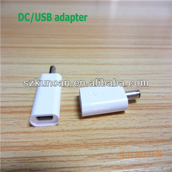 DC 3.5*1.1mm male to Micro USB female connector adapter