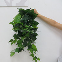 Artificial silk green leaf fake hanging plants for house decoration