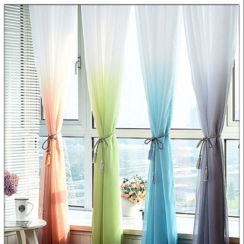 White Voile Taupe Color Curtains For Country Decor