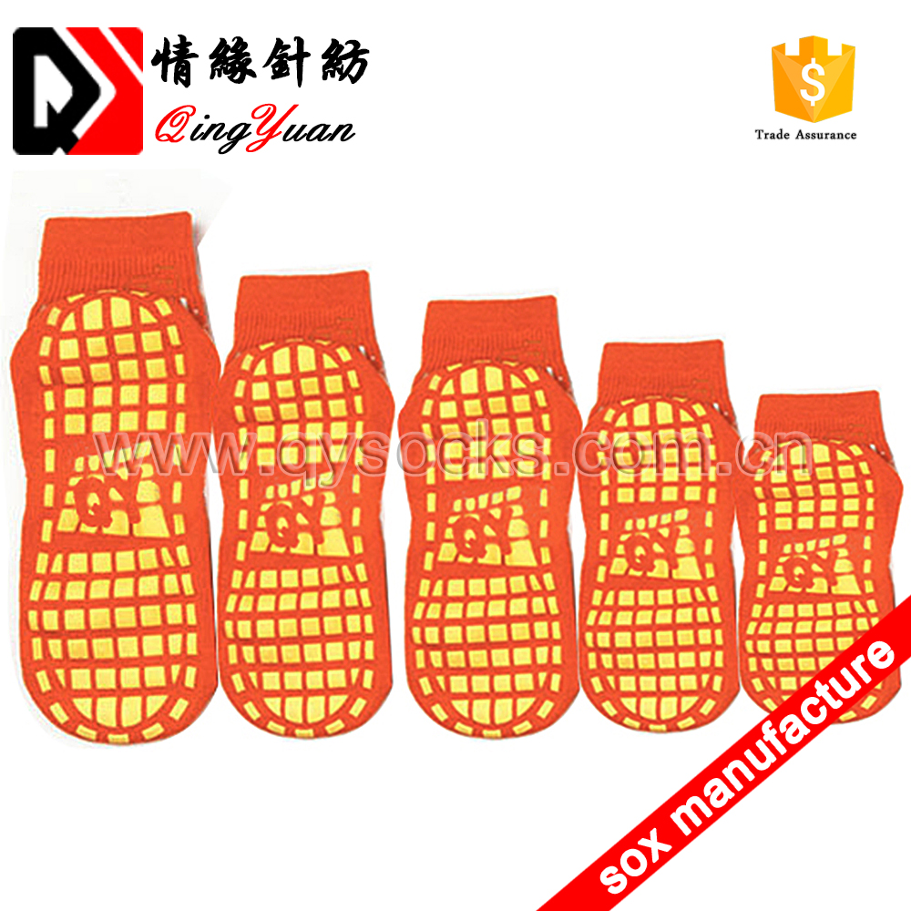 custom Trampoline Socks Rubber grip anti slip socks men tube non skid home ankle socks