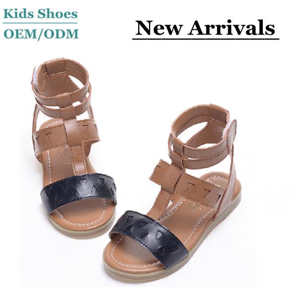 820d1e5f8 J-S0200 Hot sale black sandals boys girls summer leather shoes toddler  gladiator sandal