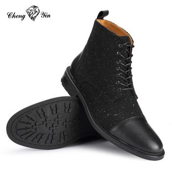 8b2d3b08ad4f China High Quality Mens High Ankle Velvet Boots Shoes For Men ...