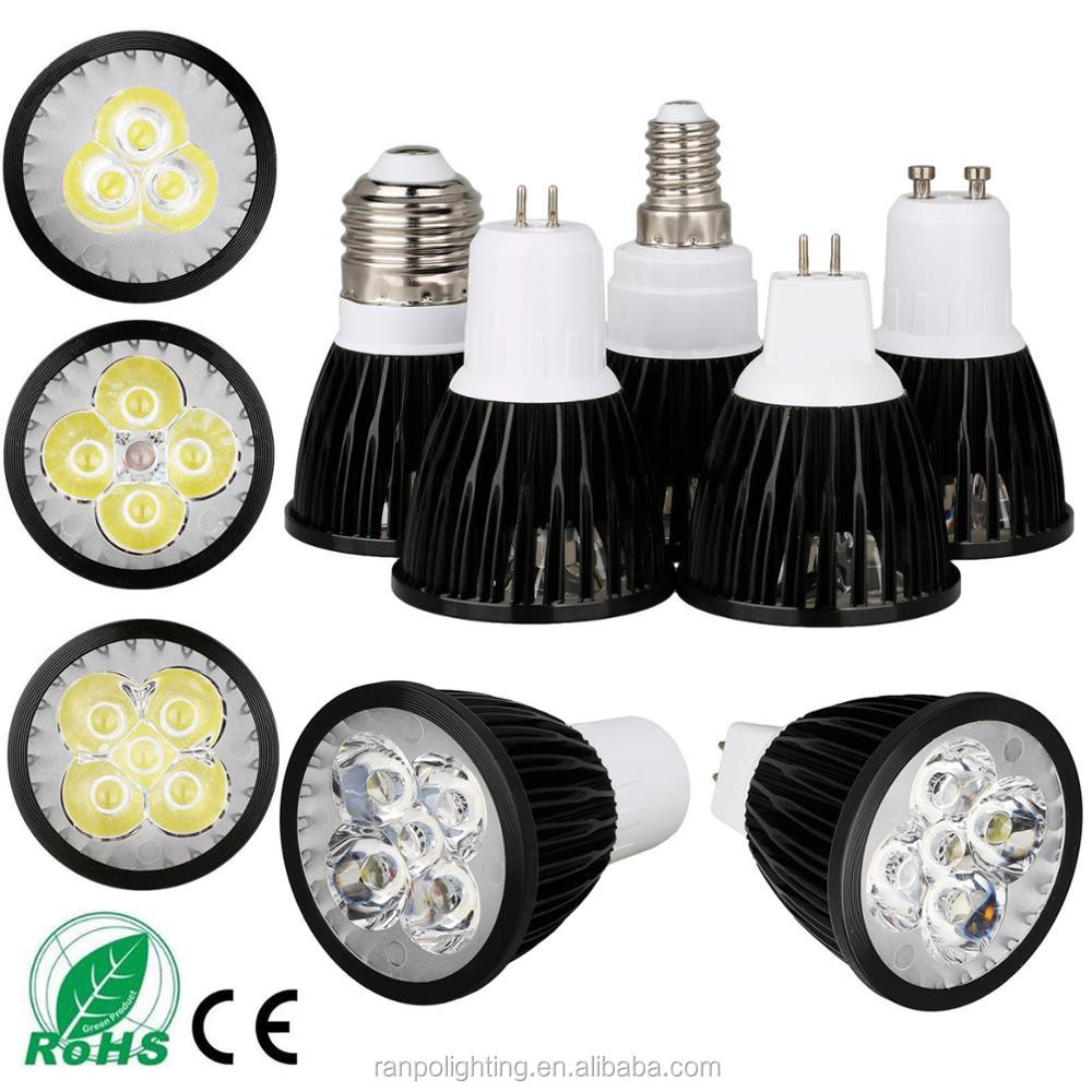 Most Powerful LED Spotlight Housing US Dimmable Bulb MR16 GU10 E27 E14 3W 4W 5W Lamp Energy Save Ultra Bright White