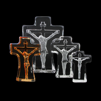Religious Christmas Gifts.Yx344 Home Decoration Church Supplies Christmas Gifts Religion Ornaments Crystal 3d Laser Etched Christian Cross Jesus Buy Cross Jesus