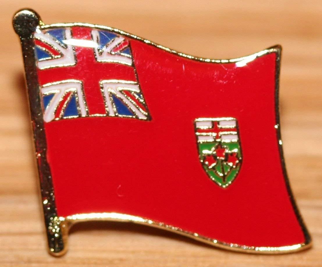 Get Quotations · Ontario Canada Flag Canadian Provinces   Territories Metal  Badge fc65247f0