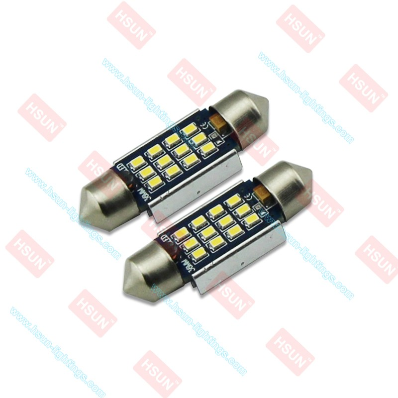 Garantie à vie Bas Prix voiture led Feston 6500 K 12 LED SMD2016 (36 MM/39 MM/42 MM) 12-24 V Canbus LED de voiture led feston