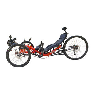 No Tariff Free Shipping Long-distance Traveling Alloy Frame 27 Speed Suspension Recumbent Trike Racing Adult Recumbent Tricycle