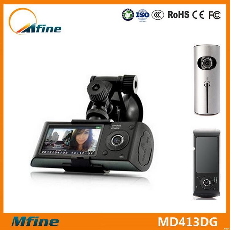 Quality hd dual car dvr, car camera video recorder,mirror car dvr dual camera gps