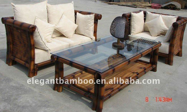 Bamboo Sofa Sets With Antique Charcoal Smoke Color - Buy Wooden Sofa Set,Bamboo  Sofa Set,Sofa Set Product on Alibaba.com