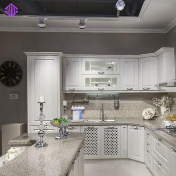 Classic Kitchen Design Pvc Cacuum Forming Cabinet Wooden Kitchen