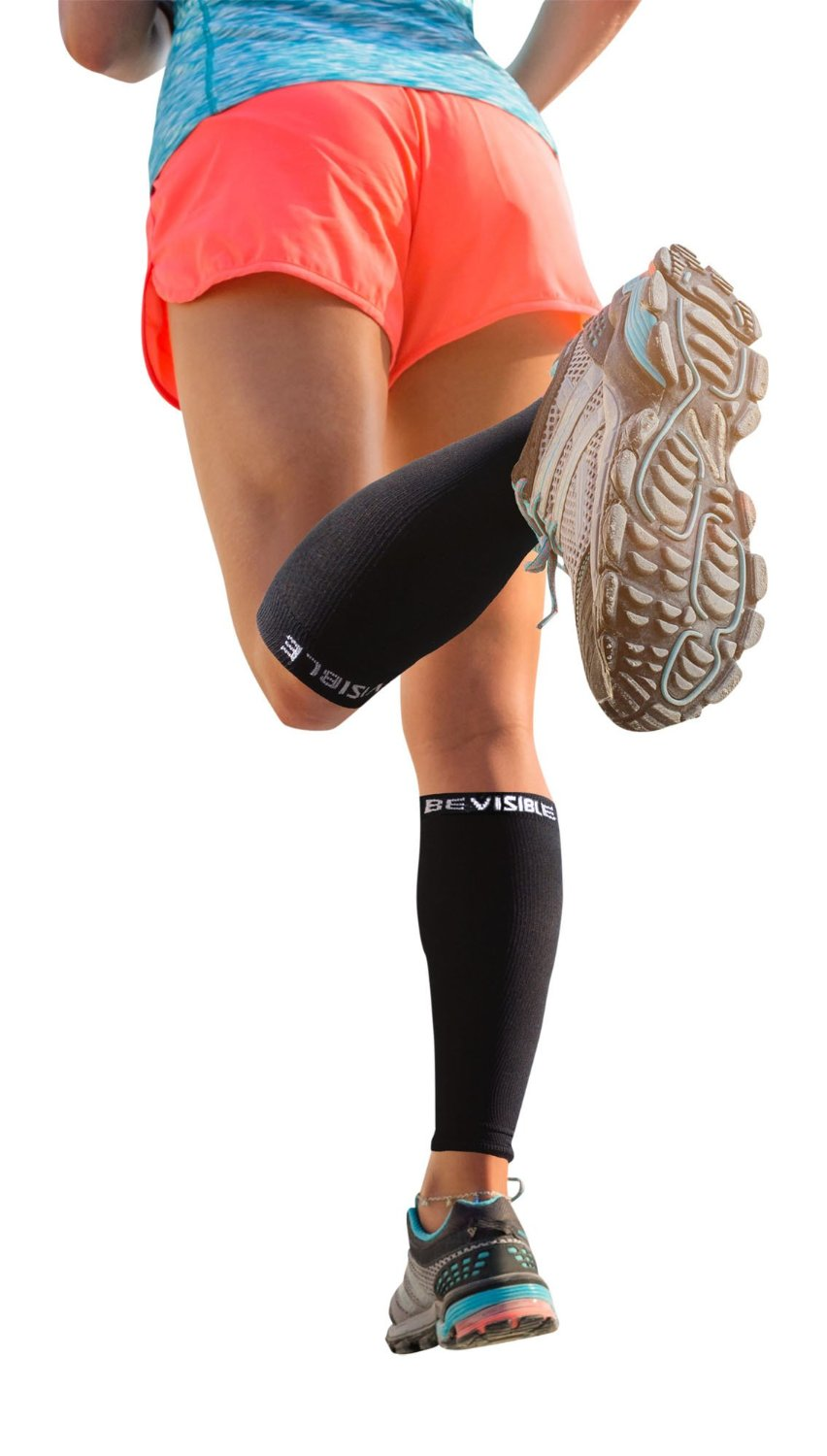 191a20c41d BeVisible Sports Calf Compression Sleeve - Shin Splint Leg Compression Socks  for Men & Women -