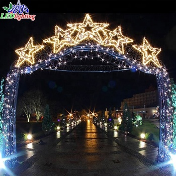 outdoor arch decoration christmas light arch