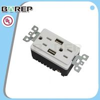 BAS15-2USB Cul/ul listed usa receptacle wireless power outlet
