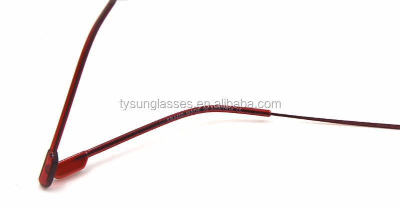a0d7932976c3d Memória Flexível Sem Aro de titânio Óculos Quadro Optical Óculos de  Prescrição de Óculos para As