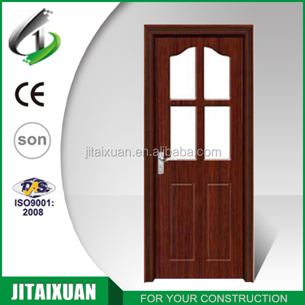 Bathroom PVC door interior wood door design bedroom door