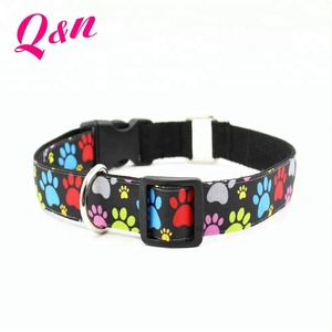 Most welcomed mix colors polyester adjustable custom fancy custom dog collar