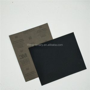 Factory Supplier copy 3M silicon carbide waterproof abrasive paper with latex or kraft paper backing