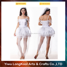 Wholesale women wedding costume white fancy dress sexy costume