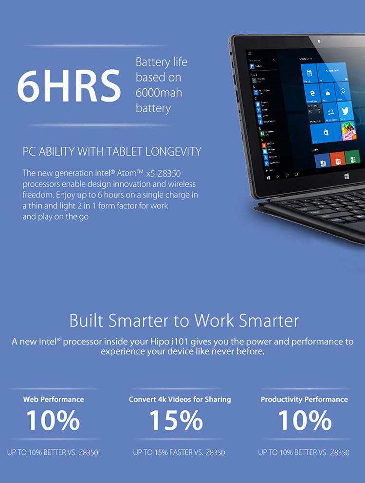 Maravilloso 10,1 'mini portátil Intel computadora Tablet PC