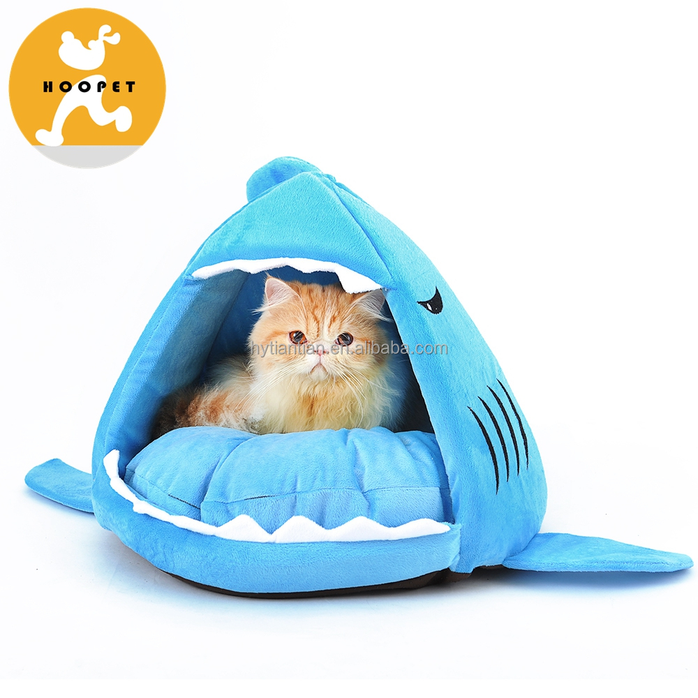 Hoopet cyan blue shark shape cheap dog beds for large dogs