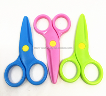 2018 hot sale 4 inch all plastic scissor safety student scissor