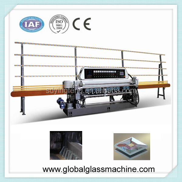 JFB-371SJ 25x25mm Small size glass mirror straight line beveling machine with PLC