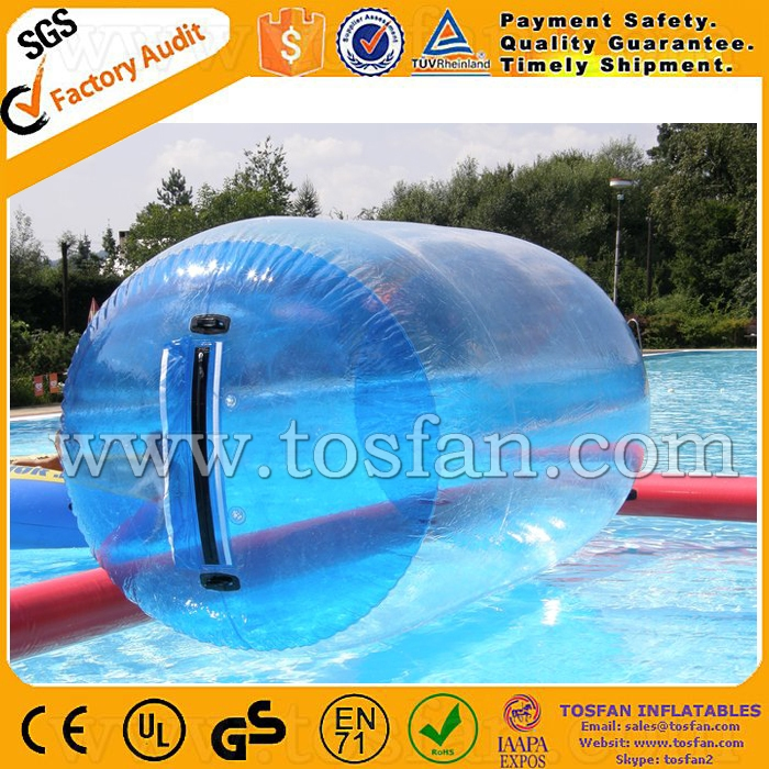 Customized big size inflatable water walking roller TW363