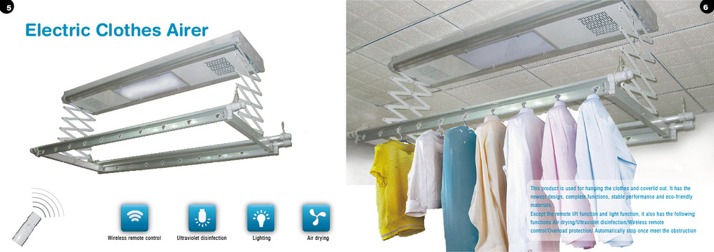 Bulk Metal Intelligent Automatic Retractable Ceiling Clothes Hanger